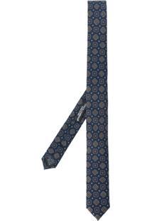 Dolce & Gabbana Gravata De Seda Jacquard - Azul