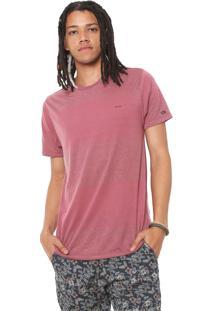 Camiseta Rvca Motivator Stripe Vinho