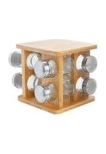 Jogo De Porta-Condimentos Giratorio Bambus 9 Pecas - Home Style