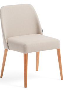 Cadeira Rosini - Base Trigo E Tecido Bege