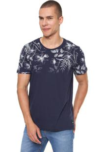 Camiseta Sommer Floral Azul-Marinho
