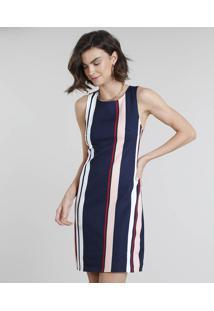 7b7d17a1d Vestido Decote Redondo Textura feminino