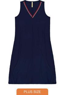 Vestido Malha Vicenza Azul
