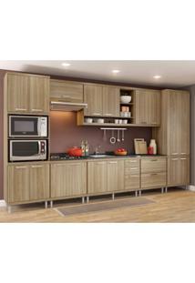 Cozinha Completa Com Balcão Sem Tampo 8 Peças 17 Portas Sicília Multimóveis Argila