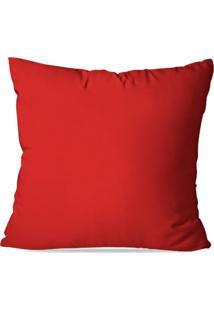 Capa De Almofada Lisa Vermelha 35X35Cm - Multicolorido - Dafiti