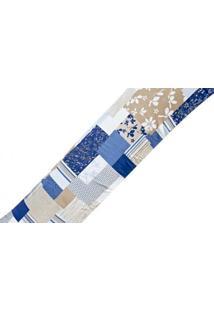 Capa Travesseiro Rafaela Estampado Patchwork Dourados Enxovais Azul
