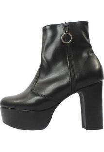 Bota Damannu Shoes Nancy Feminina - Feminino-Preto