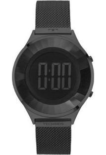 Relógio Feminino Technos Bj3572Ab/4P Digital Aço - Feminino-Preto