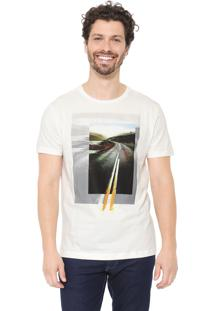 Camiseta Aramis Long Highway Off-White