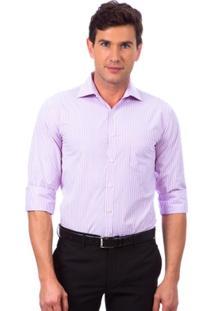 Camisa Social Colombo Listrada Masculino - Masculino