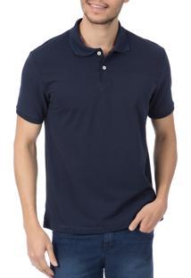 Camisa Polo Colombo Lisa Azul-Marinho