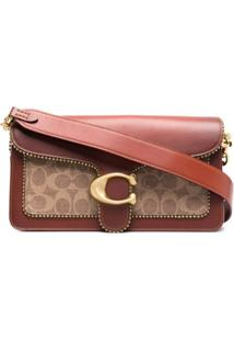 Coach Bolsa Tiracolo Tabby Signature De Canvas - Marrom