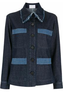 Andrea Bogosian Jaqueta Jeans Com Patchwork - Azul