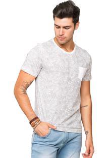 Camiseta Tony Menswear Estampada Com Bolso Branca