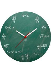 Relógio De Parede Ecológico Geek Blackboard Geek10 - Verde