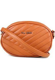 Bolsa Via Uno Mini Bag Matelassê - Feminino-Caramelo