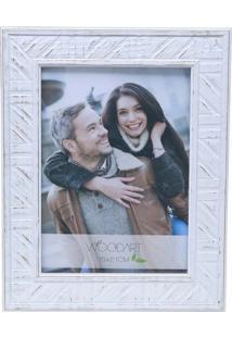 Porta Retrato Perfil Trançado 13X18 - Woodart - Branco