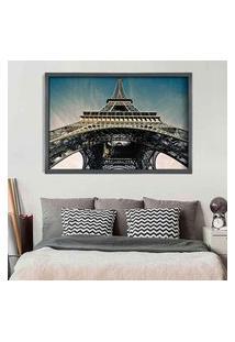 Quadro Love Decor Com Moldura Torre Eiffel Jour Grafitti Metalizado Grande