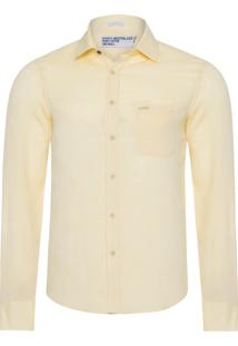 Camisa Masculina Linho Color - Amarelo