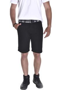 Bermuda Young Style Jeans Esporte Fino Preto