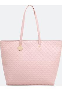 Bolsa Shopper Com Textura Quadriculada