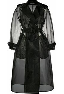 Dolce & Gabbana Trench Coat Com Abotoamento Duplo - Preto