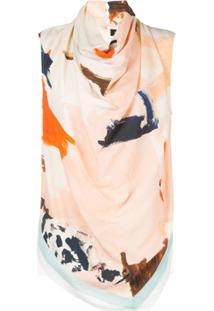 Proenza Schouler Blusa Marocaine Estampada Sem Manga - Rosa
