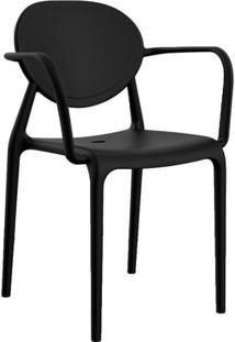 Cadeira Slick Com Braço Preta