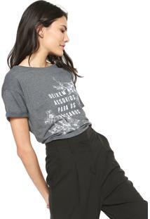 Camiseta Lunender Empoderamento Grafite