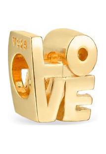 Pingente Life Love Com Banho Ouro Amarelo