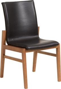Cadeira Camã©Lia - Couro Preto