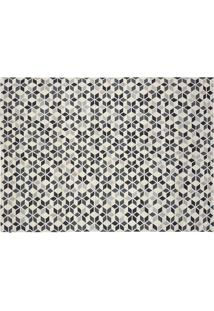 Tapete Kilim Caleidoscopio Off White/Mix Black