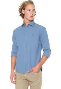 Camisa Malwee Slim Lisa Azul