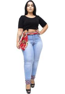 Calça Jeans Latitude Plus Size Marineusa Feminina - Feminino