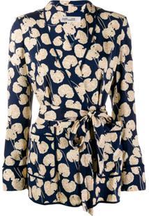 Diane Von Furstenberg Wrap Jacket - Azul