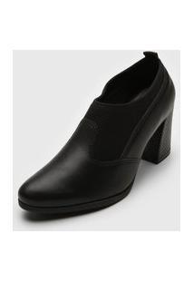 Ankle Boot Comfortflex Salto Grosso Preta