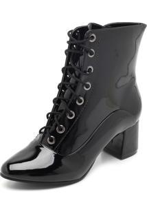 Bota Dafiti Shoes Verniz Preto