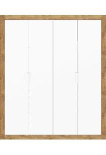 Guarda-Roupa 4 Portas Tutto New Branco E Teka Matic