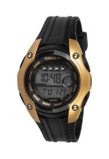 Relógio Digital Speedo 81169L0 - Feminino - Preto/Ouro