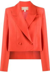 Matériel Elongated-Back Loose-Fit Blazer - Laranja