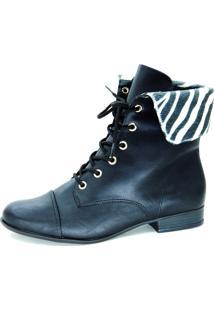 Bota Infinity Shoes Coturno Preto
