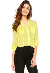 Camisa Manga Longa Aishty Bolsos Amarela
