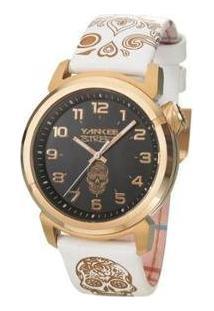 Relógio Yankee Street Black Angels De Pulso Feminino - Feminino-Dourado