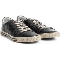 Sapatênis Couro Shoestock Listras Masculino - Masculino-Preto e0db8333d0e7d