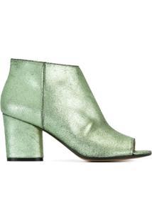 Maison Margiela Ankle Boot De Couro - Green