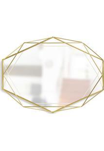 Espelho Prisma Dourado 56 Cm