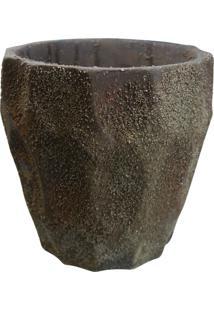 Vaso De Cimento Style Marrom Kasa Ideia
