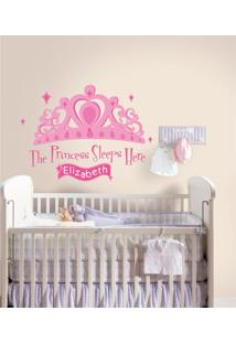 Adesivos De Parede Roommates Colorido Princess Sleeps Here Peel & Stick Giant Wall Decal W E Personalization