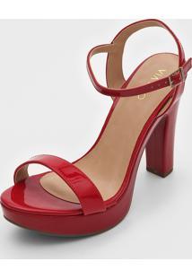 Sandália Via Uno Verniz Vermelha