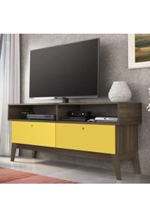 Rack Para Tv Até 52'' 2 Gavetas 0805 Demolição/Amarelo - Genialflex